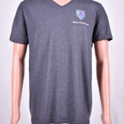 Tri-blend V- Neck Gray Heather