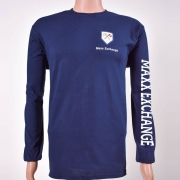 Cotton Long Sleeve Crew Neck Navy