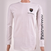 Cotton Long Sleeve Crew Neck White