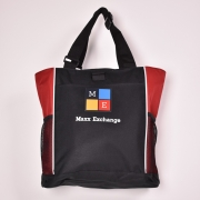 Panel Tote Red Black