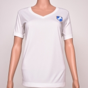 Polyester V-Neck White