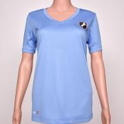 Polyester V-Neck Blue