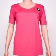 Polyester V-Neck Pink (Raspberry)
