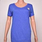 Tri-blend V-Neck Blue Heather