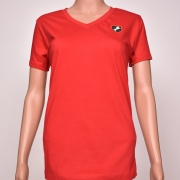 Cotton V- Neck Red