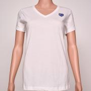 Cotton V- Neck White