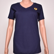 Cotton V- Neck Navy