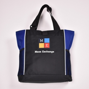 Panel Tote Blue Black
