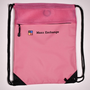 Cinch Pack Mesh Trim Pink